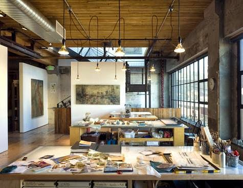 Artist studio in Seattle