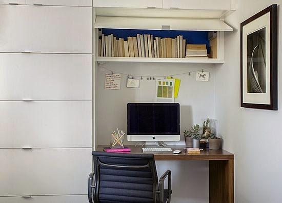 Desk in the entryway