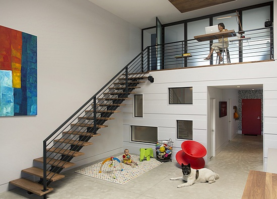 Loft living area and playspace | Textured Modern