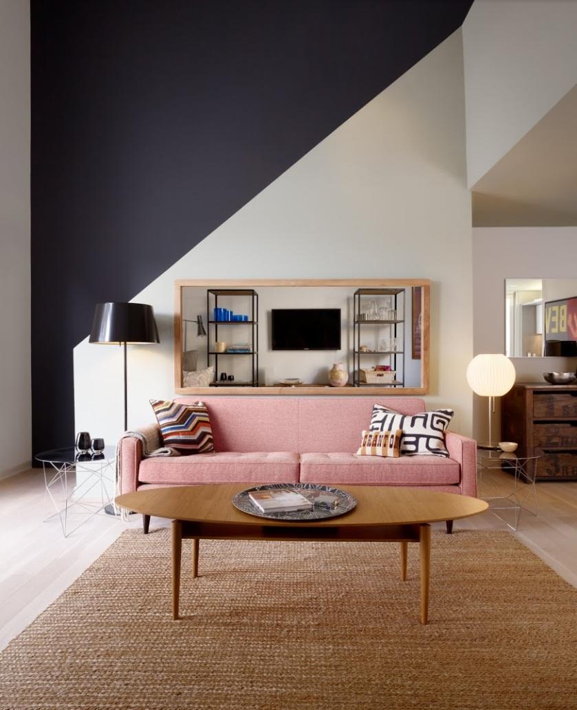 Metroloft Living Room with Stair