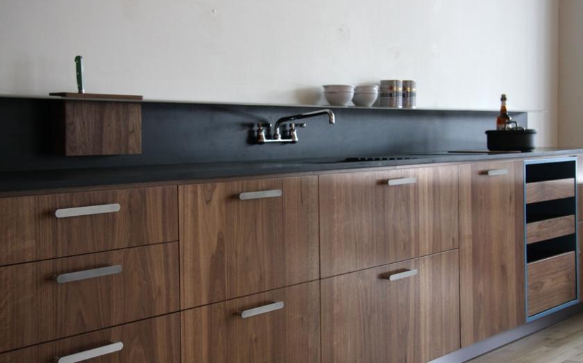 Viola Park walnut kitchen cabinetry