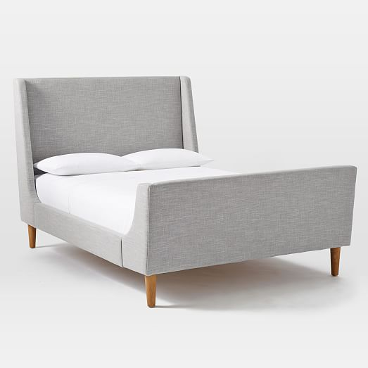 The Upholstered Sleigh Bed by West Elm