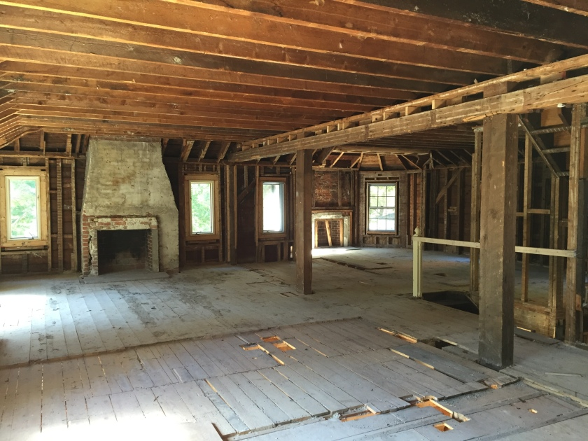 Upper floor of federal style home under renovation